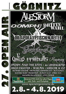 Plakat 27. Gößnitz Open Air